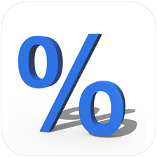 QuickPercent on iPhone